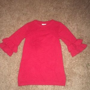 Red long sleeve sweater dress size 5t